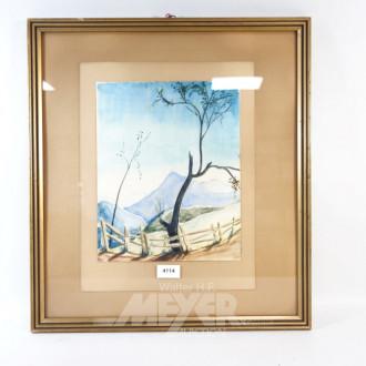 Aquarell ''Landschaft''