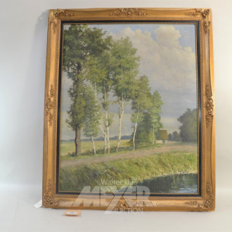 Gemälde ''Birken am See''