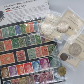 Kassette mit 5 Deutsche Reichsmünzen