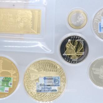 Kassette mit 7 Gedenkmünzen, Barren