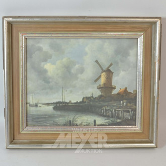 Bild ''Windmühle am Fluß''