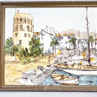 Druck ''Südländischer Hafen''