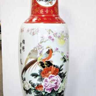 Porzellan Bodenvase Asia-Dekor,