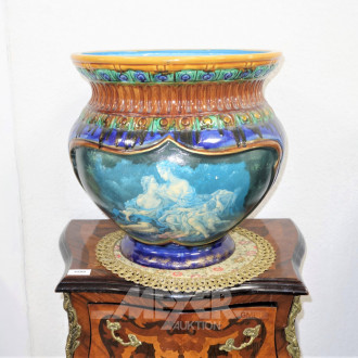 Blumenübertopf, Keramik,