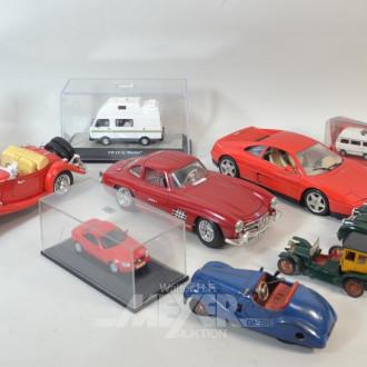 Posten Modellautos, ca. 11 Stück