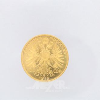 Goldmünze 100 Kronen, Franz Josef I,