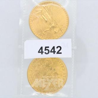 2 Goldmünzen USA ''Twenty Dollar'':