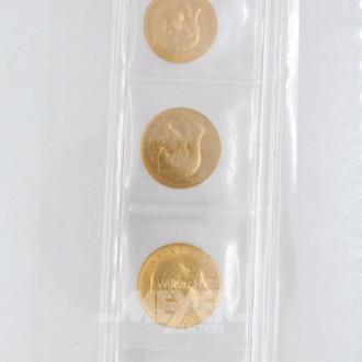 4 Goldmünzen: Deutsches Reich,