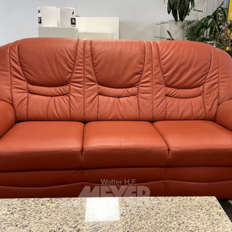 Sofa, 3-Sitzer, Kunstleder rostbraun