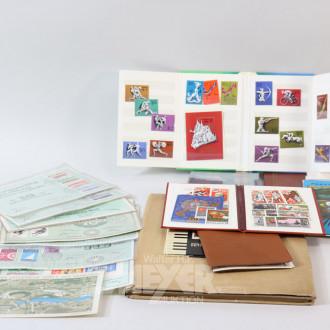 Posten Briefmarken und Münzen,