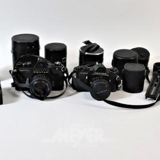 2 Spiegelreflex-Fotokameras PENTAX