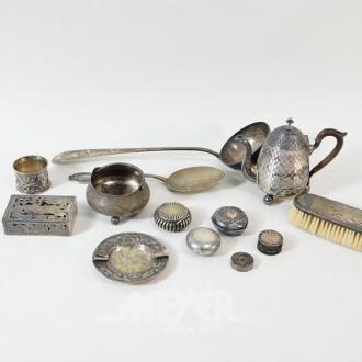 Posten Silber: Bowlenkelle, Fischheber,