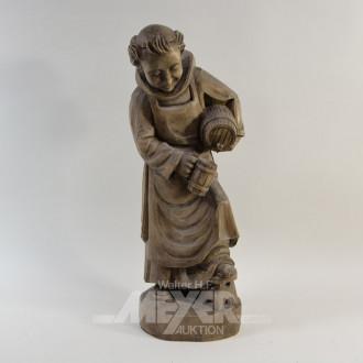 Holzschnitz-Figur ''Der Genießer'', Sockel