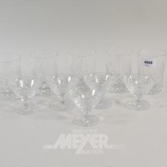 10 Kristall-Gläser: Whiskey u. Likör
