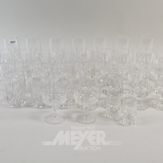 37 div. Kristall-Gläser: