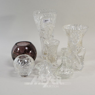 Posten Kristall: 5 Vasen,