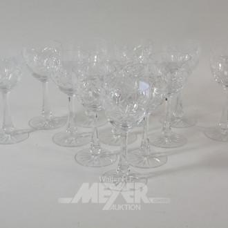 12 Kristall- Weingläser