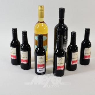 8 div. Rot- u. Weißweinflaschen