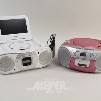 Kompakt-Musikanlage und 1 tragbarer