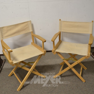 2 Regiestühle, Buche hell