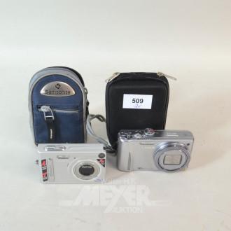 2 Digital Kameras PANASONIC - CASIO