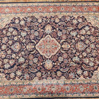 Orientteppich, blaugundig, floral