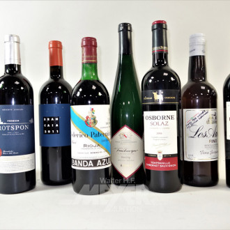 15 Flaschen versch. Rotwein (Weißwein):