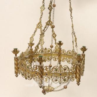 orientalische Kerzen-Deckenlampe