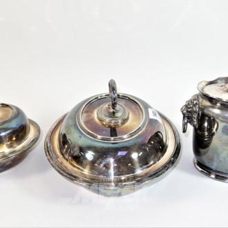 Teedose Plated mit Löwenkopf-Montierung
