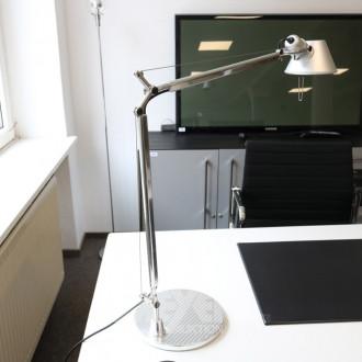 Schreibtischlampe, Chrom/Alu,