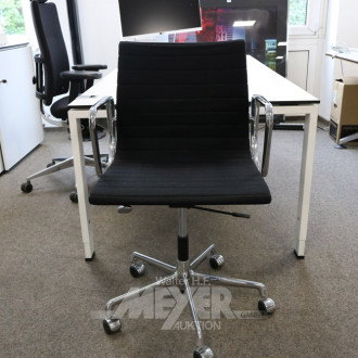 Bürodrehstuhl, schwarz,