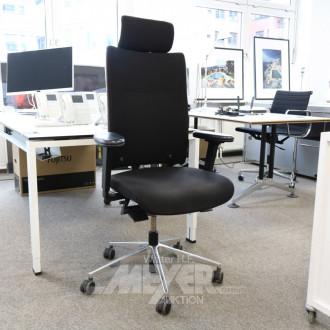 Armlehn-Bürodrehstuhl, Hochlehner,