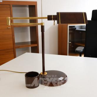 Schreibtischlampe braun, Messing
