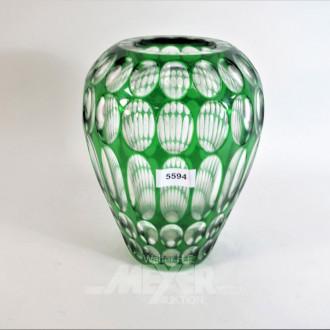 Kristallvase, H: 27 cm