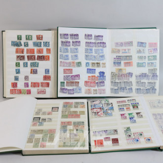 gr. Posten Briefmarken-Alben: