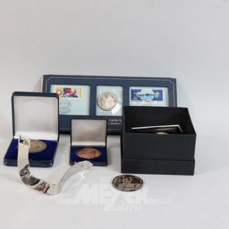 kl. Posten Silbermünzen, Medaillen,