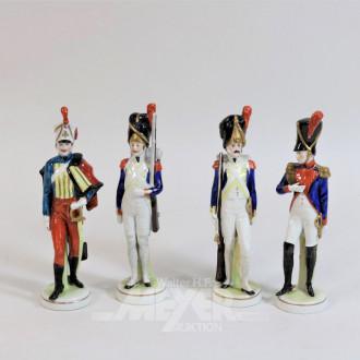 3 Porzellan-Figuren ''Soldaten'',