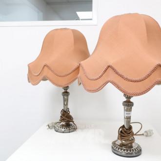 Paar Tischlampen, Silberfuß,