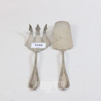Vorlegebesteck, 800er Silber