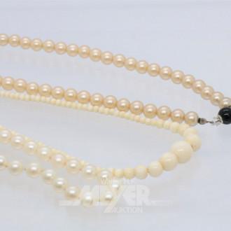 kl. Posten Perlenketten best. aus: