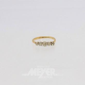 Ring, 585er Gelbgold, Säuretest,