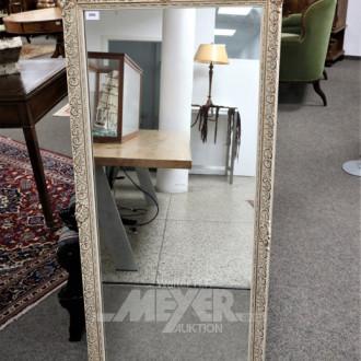 Wandspiegel, Holzrahmen, beige mit