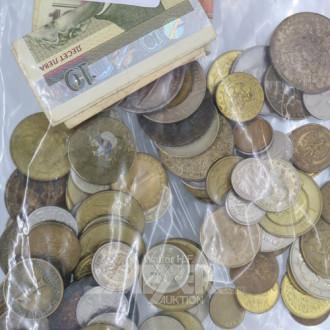 Posten Münzen und Papiergeld