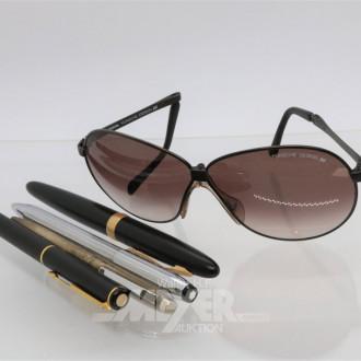3 Sonnenbrillen bez. PORSCHE, RAY BAN und