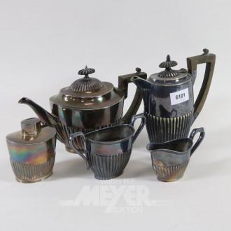 Kaffe-/Tee-Service, Plated, 5-tlg.