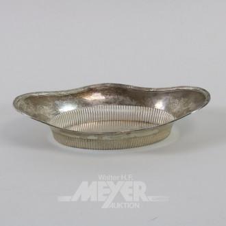 ovale Gebäckschale, 800er Silber,