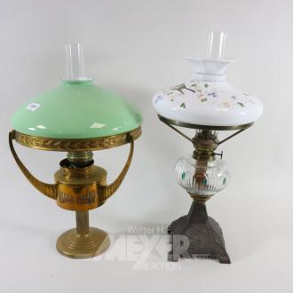 2 versch. Petroleumlampen