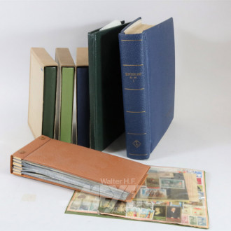 Posten Briefmarken, ca. 14 Alben sowie