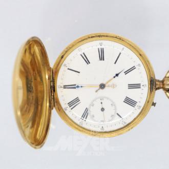 Taschenuhr, GG, 3 Deckel Gold ,