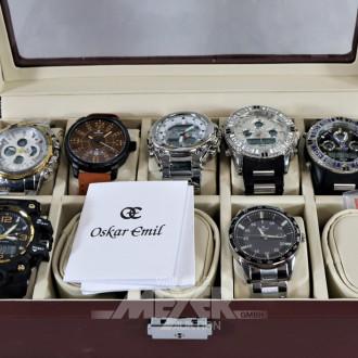 14 Armbanduhren, OSKAR EMIL, ungetragen
